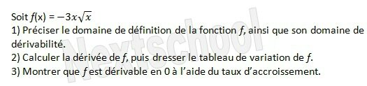 1ere derivation application aux variations 4 6