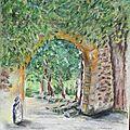 arche d'une porte de relais de poste datant de 1489