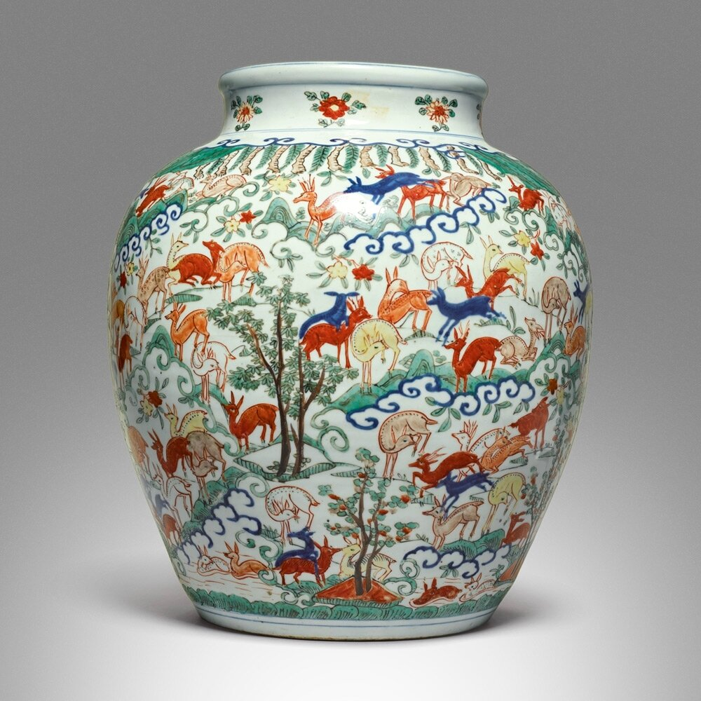 A large and important wucai hundred deer vase wanli mark and a large and important wucai hundred deer vase wanli mark and period 1573 1619 reviewsmspy