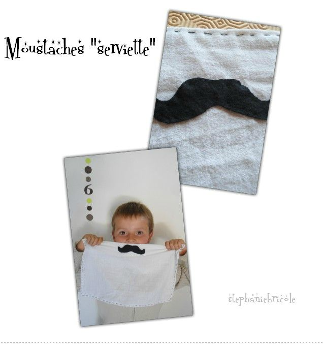 moustache serviettes
