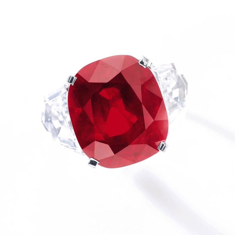 Sothebys_Most Valuable Ruby_Sunrise Ruby from the top