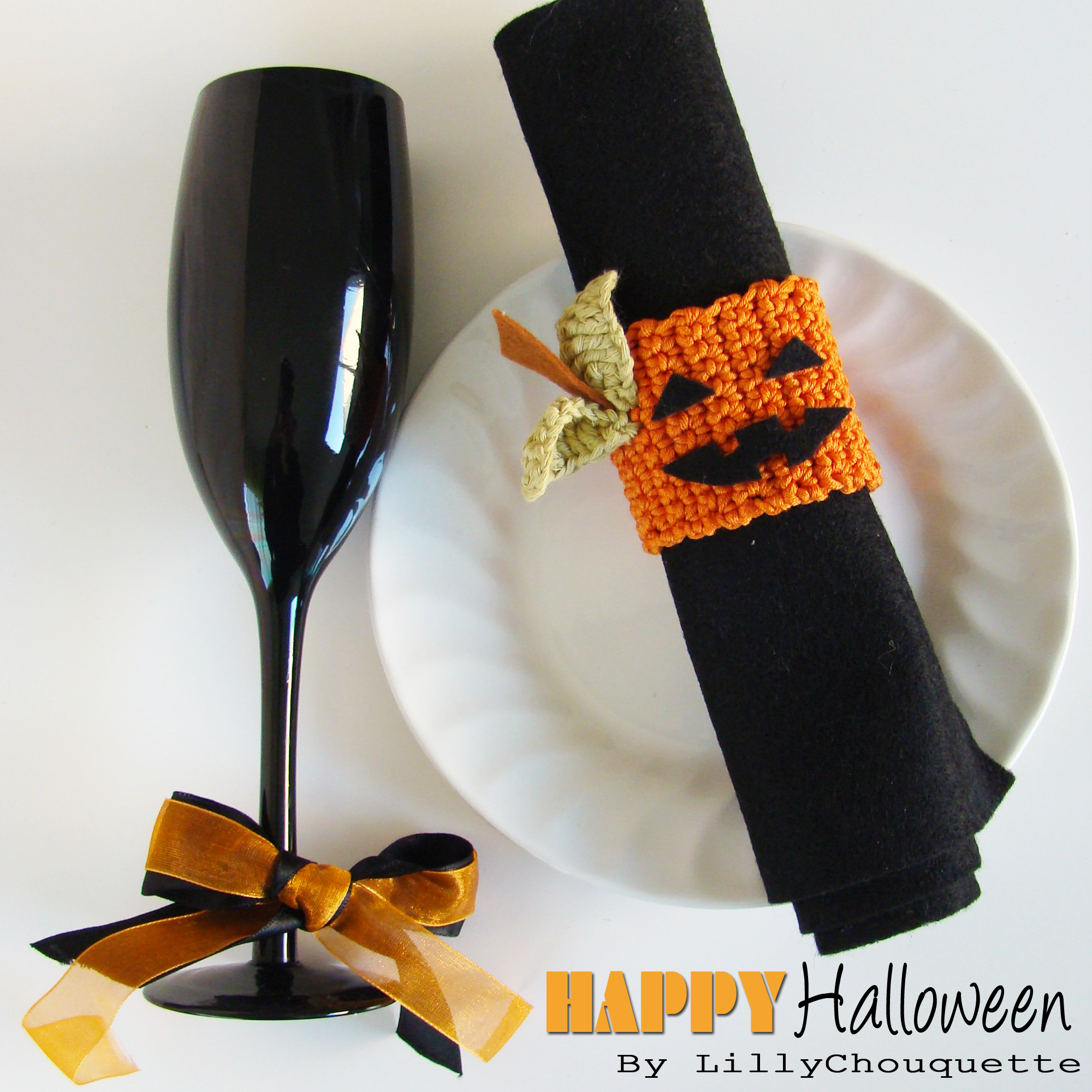 Tuto diy id e d co halloween au crochet lilly chouquette bloggueuse cr ative - Tuto deco halloween ...