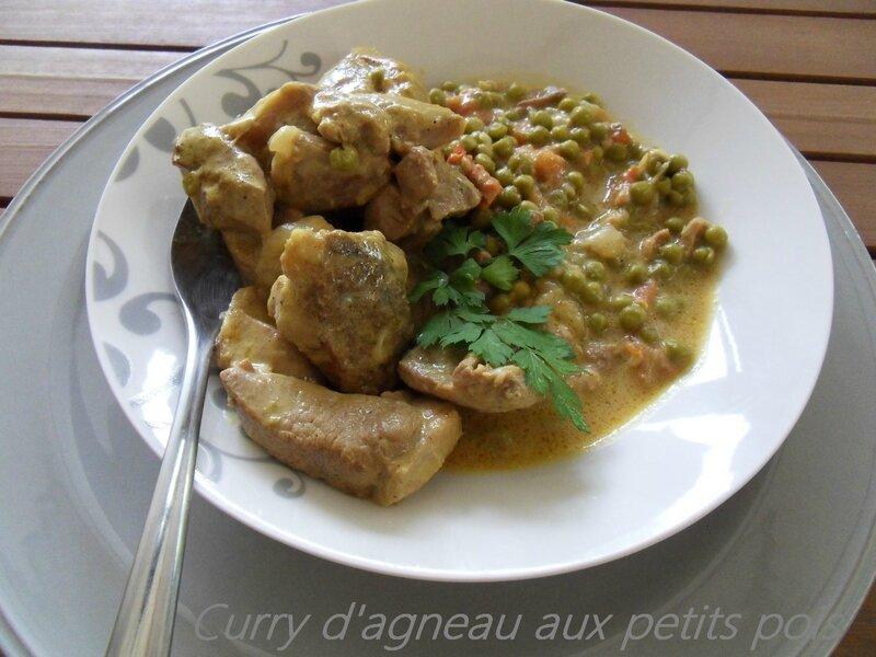 Curry d'agneau aux petits pois