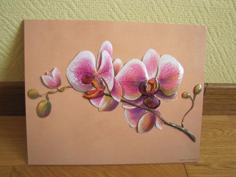 tableau 3d orchid e d comaggy. Black Bedroom Furniture Sets. Home Design Ideas