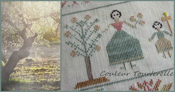 Mother's sampler 1799 Couleur Tourterelle 2-2