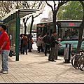 Arrêt de bus à tianjin et pékin
