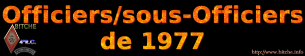 OFFICIERS sous OFFICIERS de BITCHE 1977a