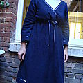 robe polaire fleur bleue
