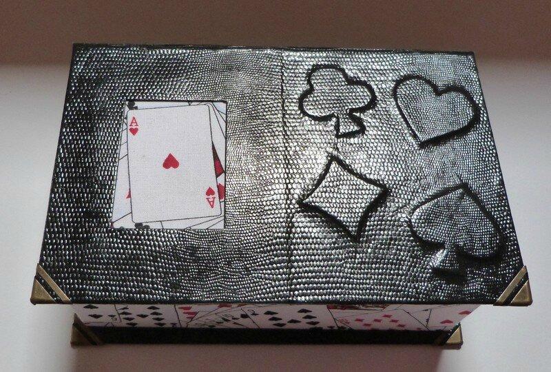 Boites jeux de cartes cartonnage exoticcreation - Modele de boite en cartonnage ...