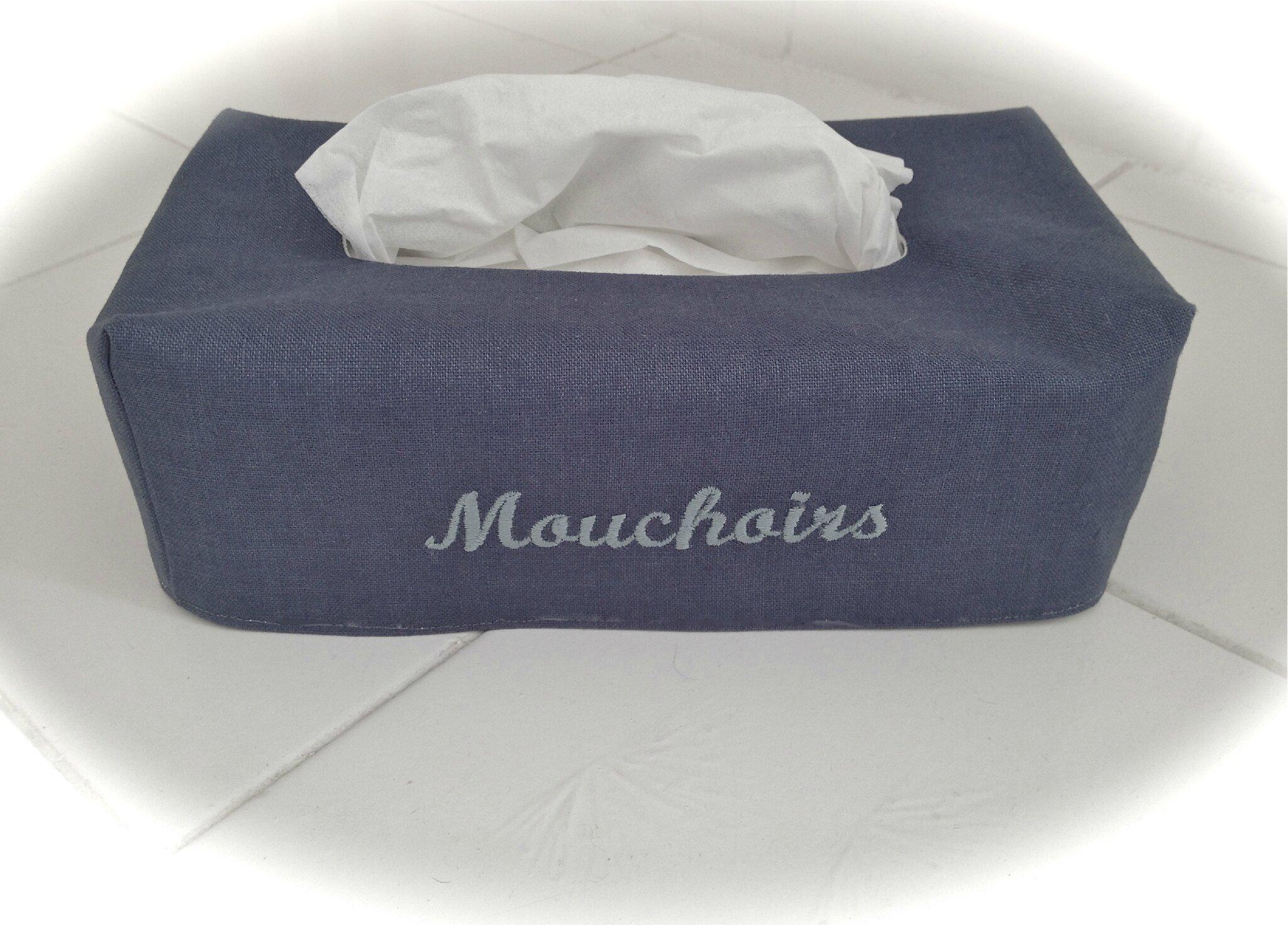 Housse bo te de mouchoirs les pluriels du lin - Boite de mouchoirs personnalises ...
