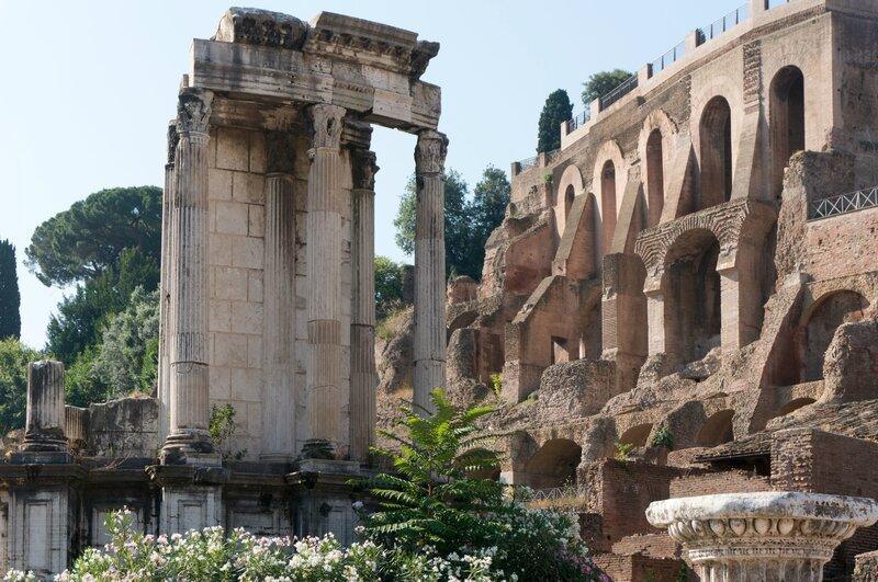 Vestige du temple des Vestales