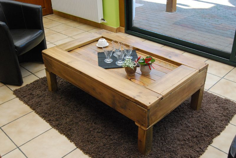 Nouvelles photos palette table basse un air de r cup 39 - Fabriquer sa table de salon ...