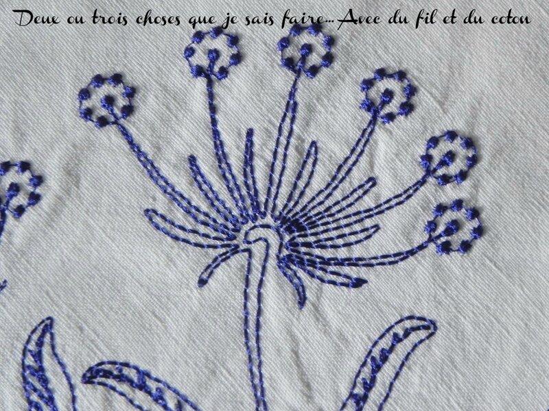 gros plan motif floral