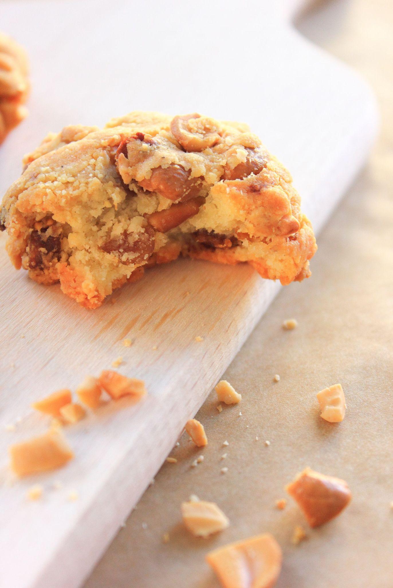 Cookies au figues, pramesan et noix de cajou