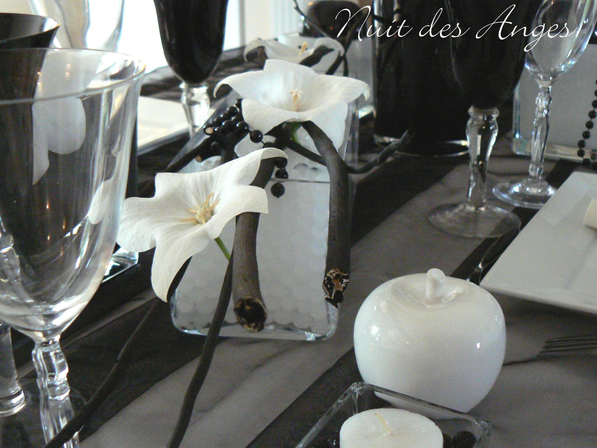 nuit des anges d coratrice de mariage d coration de table noir et blanc 006 photo de. Black Bedroom Furniture Sets. Home Design Ideas