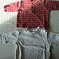 Lot de 2 tee-shirts à manches longues 6 mois
