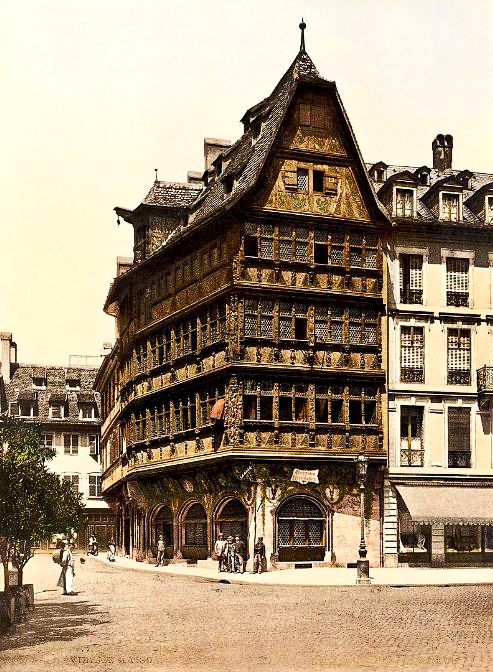 Maison Kammerzell, Strasbourg (then part of Germany) The first colour photographs of France