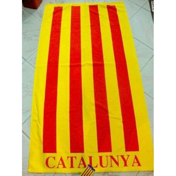 serviette-de-plage-drapeau-catalan-avec-inscription-catalunya