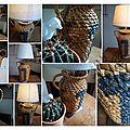 Lampe vase paillé-montage
