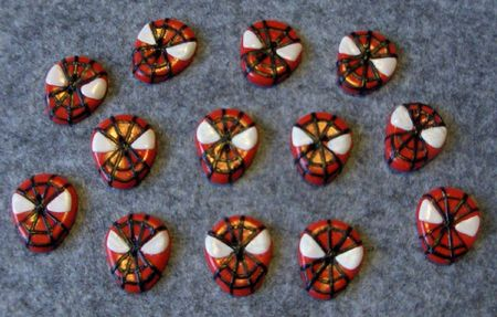 spiderman bouton fimo 004
