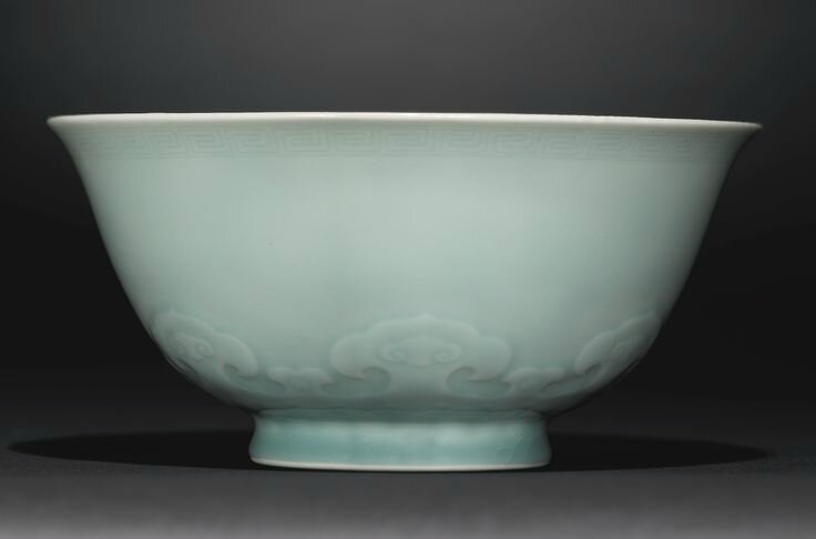 A celadon-glazed bowl, Yongzheng mark and period