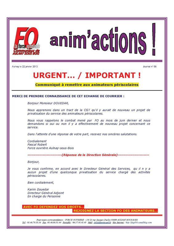 Aulnay animperisco JOURNAL n° 6