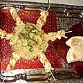 Repas de ce soir : nouilles chinoises sautées aux courgettes et brochettes de poulet au graines de sésame