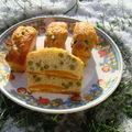 Cake aux petits pois carottes