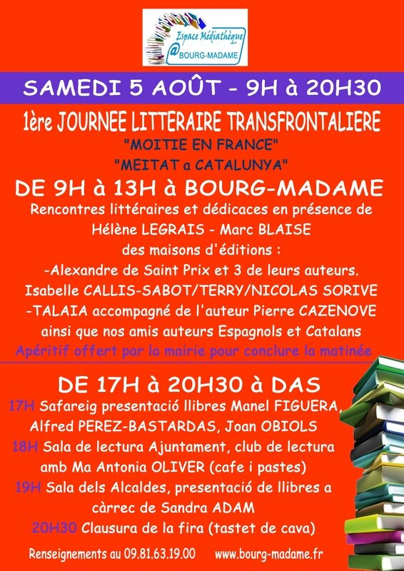 RENCONTRE LITTERAIRE Bourg-Madame