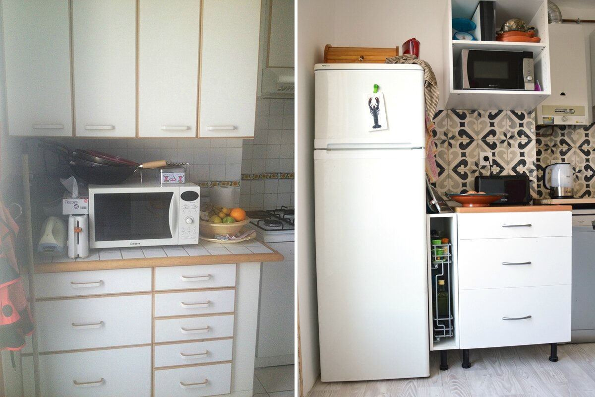 ma cuisine avant apr s 2 doigts d 39 id e. Black Bedroom Furniture Sets. Home Design Ideas