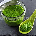 Pesto d'épinards