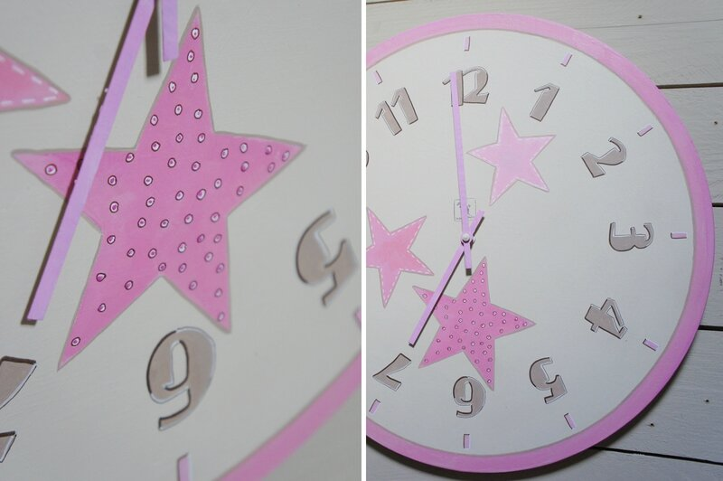 horloge naissance rose