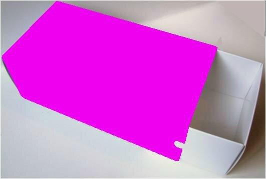 131124 Coffret tiroir à fourreau 220x110x74 TEC3 fuchsia clair blanc