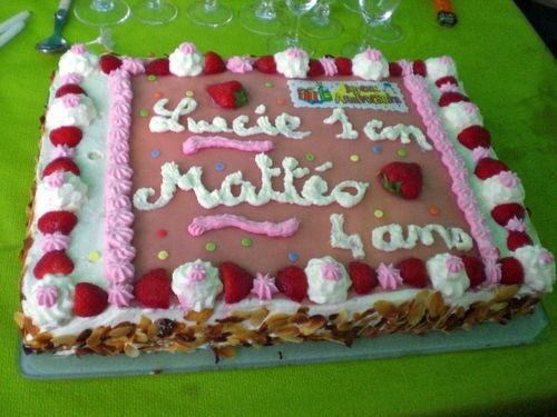 Gâteau d'anniversaire(fraisier)