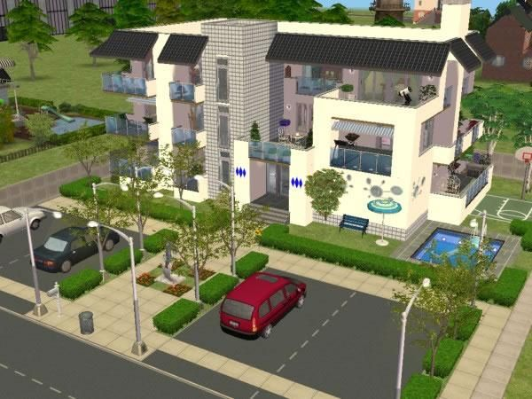 Bienvenue maisons deco sims2 for Appartement design sims 3