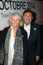 Jean-Pierre-Foucault-et-son-epouse-Evelyne-a-l-inauguration-du-Train-de-la-Tele-a-Paris-le-6-octobre-2014