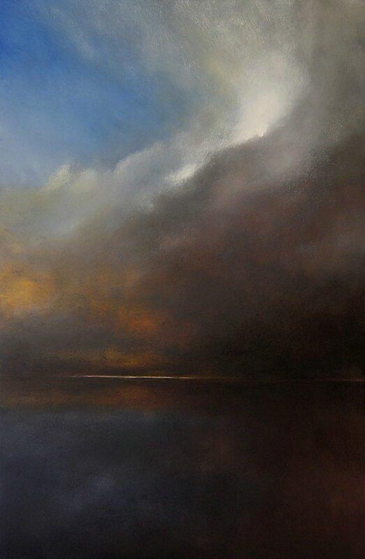 Horizon elevation 58 (2) mai 2016 huile sur bois 80 x 122 cm