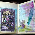 Art Journal pages PaperArtsy / Alpha dictionnary challenge (P)