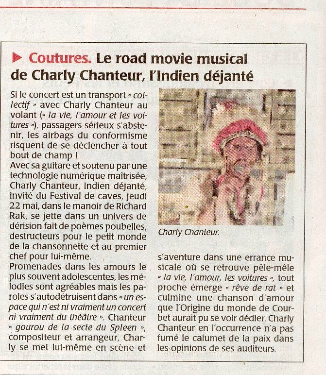 Charly chanteur Coutures 22 05 14