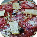 Pizza raclette aux crozets