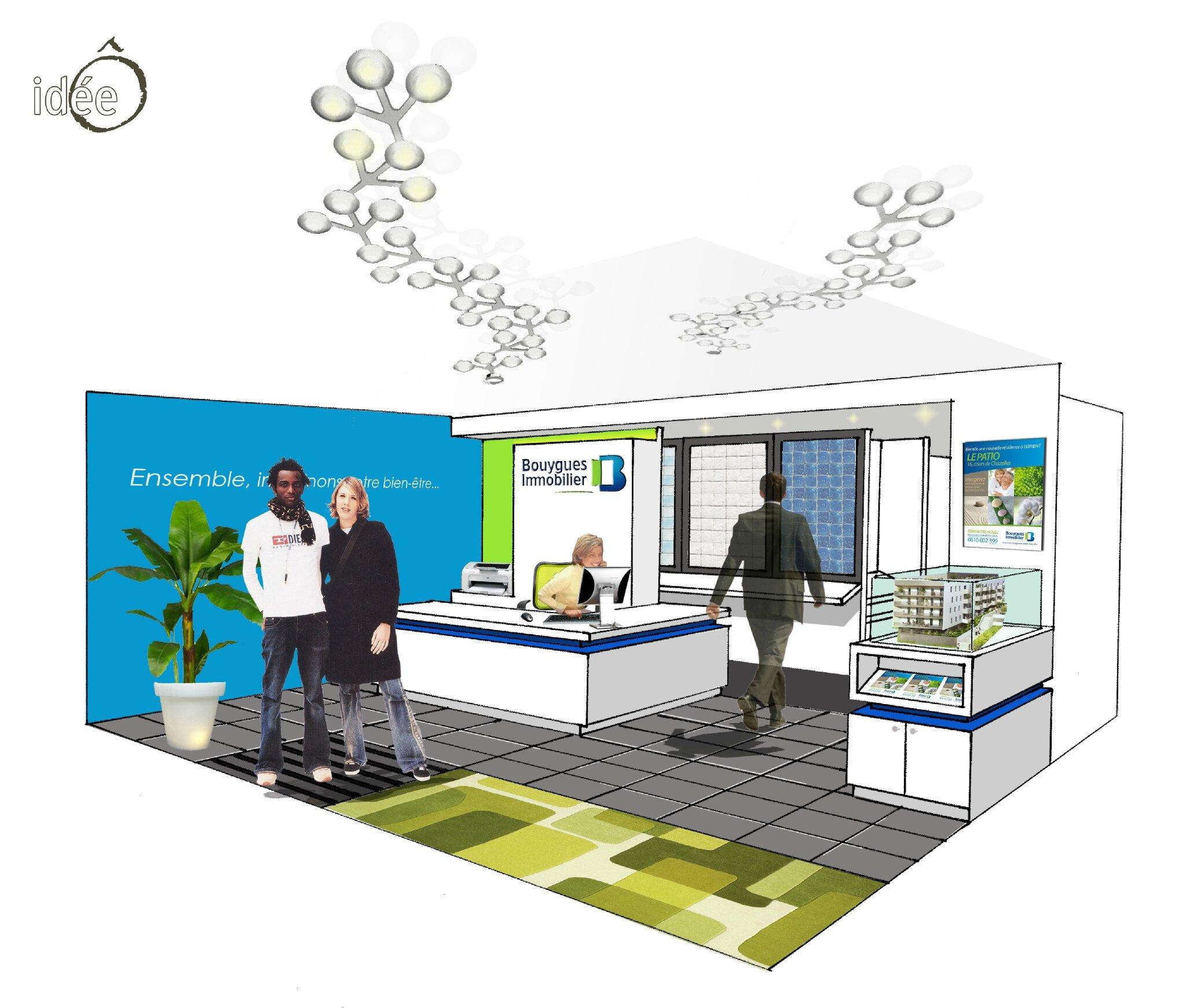 bouygues immobilier showroom rennes 35 2012 atelier id e architecte d 39 int rieur. Black Bedroom Furniture Sets. Home Design Ideas