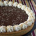 Tarte au chocolat viennois, pâte sucrée à la noisette