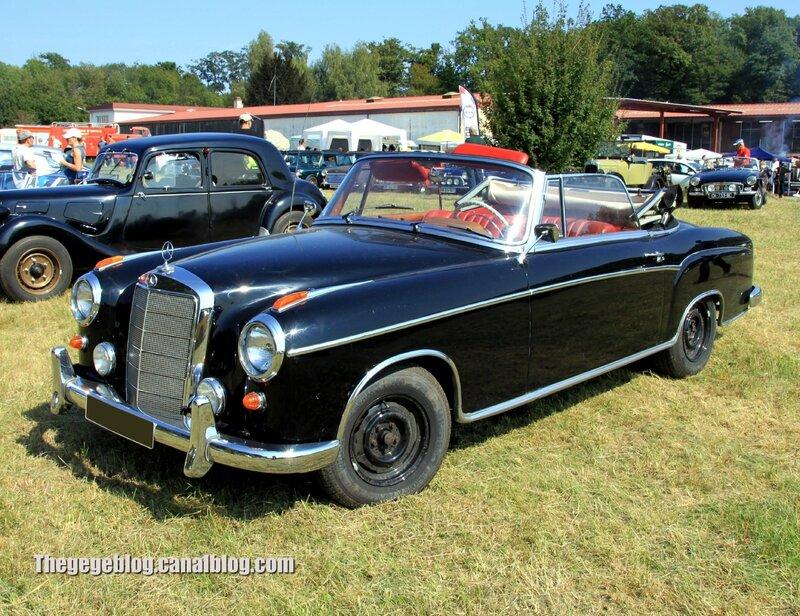 Mercedes 220 SE ponton (1956-1959)(Auto Retro nord Alsace Betschdorf) 01