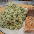 Risotto aux herbes et saumon froid