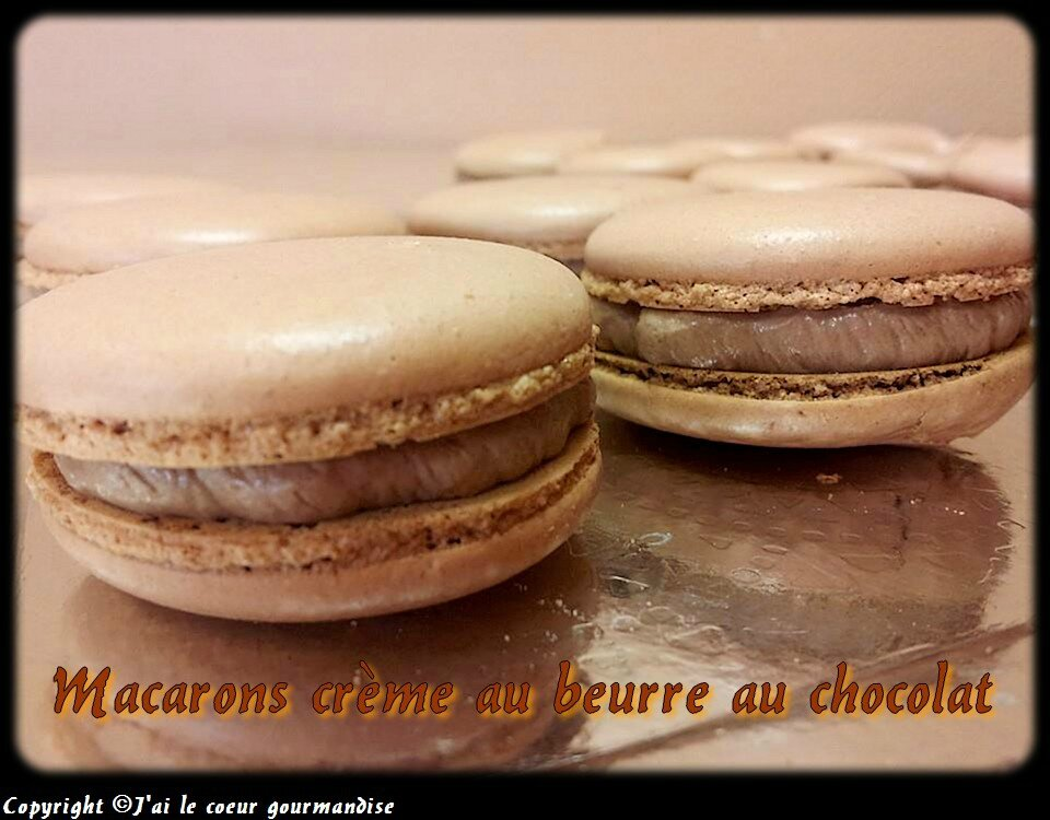 Macarons crème au beurre au chocolat