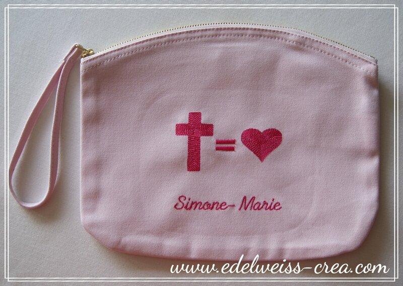 Trousse pochette rose brodée +=_3