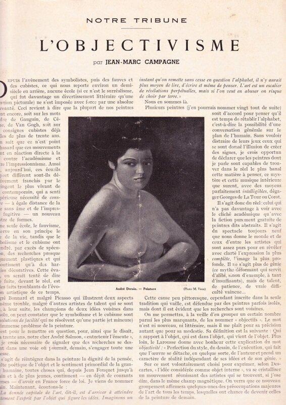 beaux-arts,tribune du 30 octobre 1943