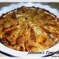 JANSSON'S TEMPTATION ( gratin sudois )