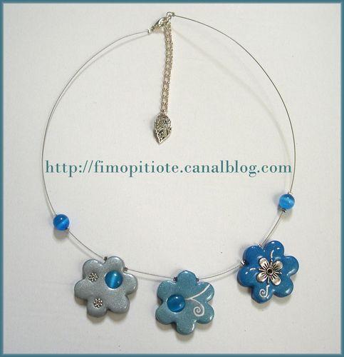 Collier du gris au bleu