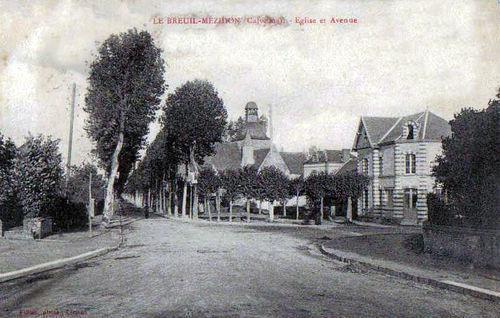 Le Breuil - l'église et l'avenue